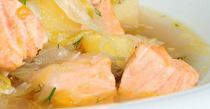 Estofado de salmón